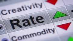 """Rate"" on the screen. Looping. Stock Footage"