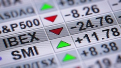 Global world indexes on the screen. Looping. Stock Footage