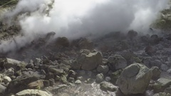 Activity of natural volcanic hot springs Stock Footage