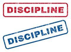 Discipline Rubber Stamps Stock Illustration