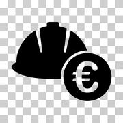 Engineering Helmet And Euro Vector Icon Piirros