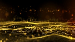 Gold particle field background Stock Footage