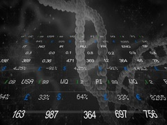 Stock Market   DNA   Front Side   black   SD Stock Footage