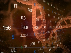 Stock Market   DNA   Right Side   red   SD Stock Footage