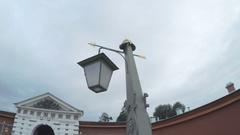 Vintage lights on Ioannovsky Bridge Stock Footage