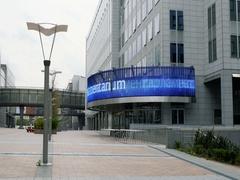 Empty area near Parlamentarium European Parliament in Bruxelles Stock Footage