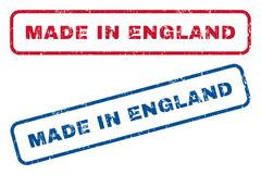 Made In England Rubber Stamps Stock Illustration