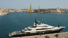 Valletta, Malta -Alfa Nero is one of the largest private motor Stock Footage