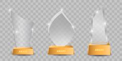 Trophy glass awards vector illustration Stock Illustration