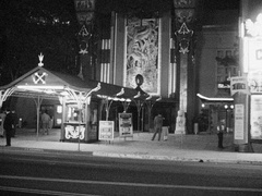 Chinese Grauman Theater - Front Entrance - Hollywood 1950s Stock Footage