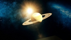 Realistic Planet Saturn from space Stock Footage