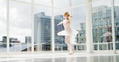 Ballerina practicing ballet dance Arkistovideo