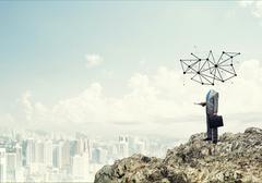 Social network as business concept Stock Photos