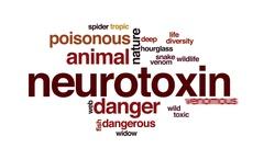 Neurotoxin animated word cloud, text design animation. Stock Footage