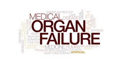 Organ failure animated word cloud, text design animation. Kinetic typography. Stock Footage
