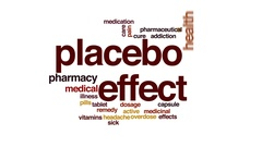 Placebo effect animated word cloud, text design animation. Stock Footage