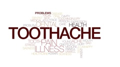 Toothache animated word cloud, text design animation. Kinetic typography. Stock Footage