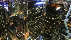 6K Los Angeles Downtown Aerial Time Lapse of Night Cityscape and Traffic Stock Footage
