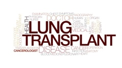 Lung transplant animated word cloud, text animation. Kinetic typography. Stock Footage