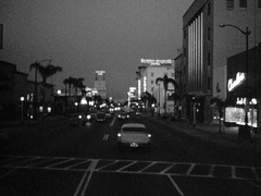 Driving Wilshire Blvd - Beverly Wilshire Hotel - Beverly Hills 1950s Stock Footage