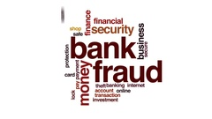 Bank fraud animated word cloud, text design animation. Stock Footage