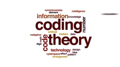 Coding theory animated word cloud, text design animation. Stock Footage