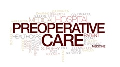 Preoperative care animated word cloud, text animation. Kinetic typography Stock Footage