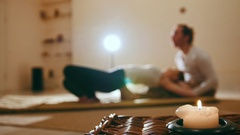 Thai medical massage - traditional therapy in thailand, de-focused background Stock Footage