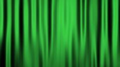 Silk Velvet Curtain Seamless Looping Motion Background Green Stock Footage
