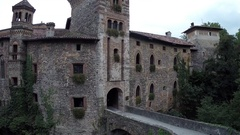 External view of Longobard Castle. Italy Stock Footage