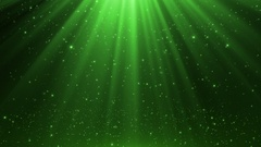 Magical Heavenly Rain of Glowing Particles Seamless Loop Motion Background Green Stock Footage