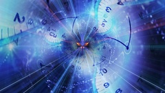 Clocks Tunnel and Fibers Ring Stock Footage