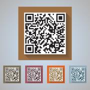 QR Code Icons - quick response codes for commercial and private use Stock Illustration