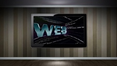 WEB Text Animation and Html Code Stock Footage