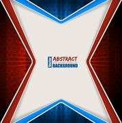 Abstract red blue brochure with stripes and stars Stock Illustration