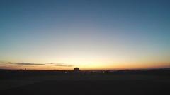 Taymlaps city dawn field Stock Footage