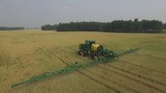 Harvester John Deere Sprayer Stock Footage