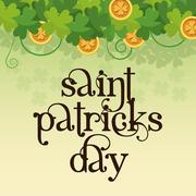 Saint patrick day lettering poster Stock Illustration
