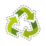 Environment arrow aroung recycle ecology symbol - dot line Stock Illustration
