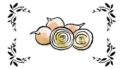Hand Drawn Cartoon of Healthy Vegetables Stock Footage