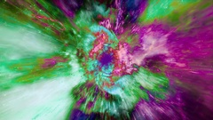 Through a wormhole in deep space - Space Travel 2228 Stock Footage Stock Footage