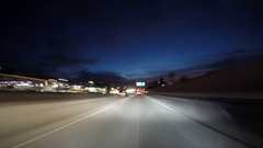 Predawn Freeway Driving Time Lapse California Stock Footage