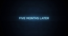 Glitchy Modern Movie Title   Five Months Later Stock Footage