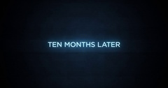 Glitchy Modern Movie Title   Ten Months Later Stock Footage