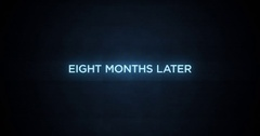 Glitchy Modern Movie Title   Eight Months Later Stock Footage
