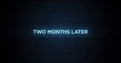 Glitchy Modern Movie Title   Two Months Later Stock Footage