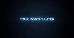 Glitchy Modern Movie Title   Four Months Later Stock Footage