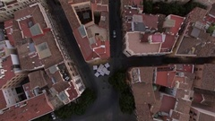 Flying over Serranos Towers in Valencia, Spain Stock Footage