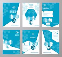 Orthopedics and radiology medicine card template Stock Illustration