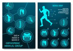 Medical infographic with orthopedic anatomy charts Stock Illustration